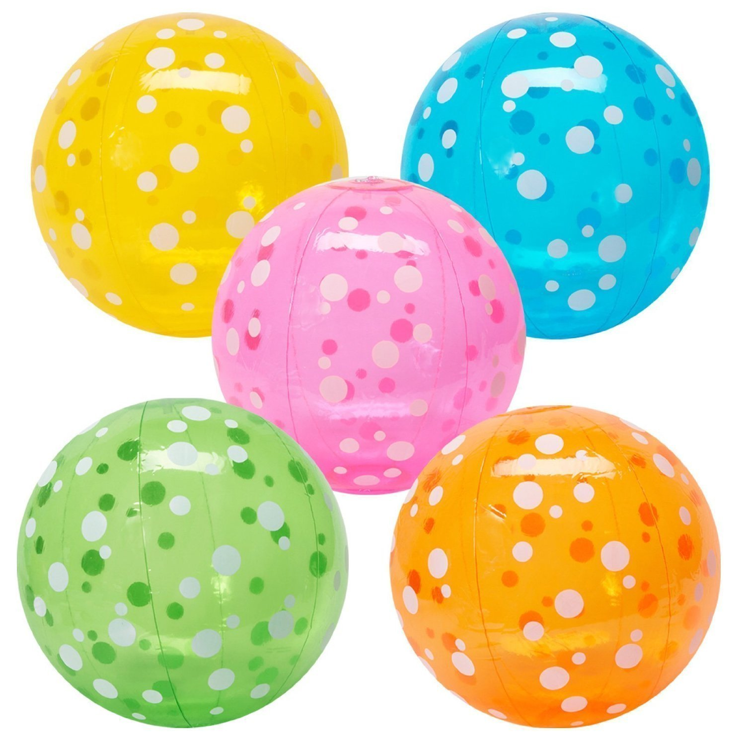 Fun Express Inflatable Polka Dot Beach Balls