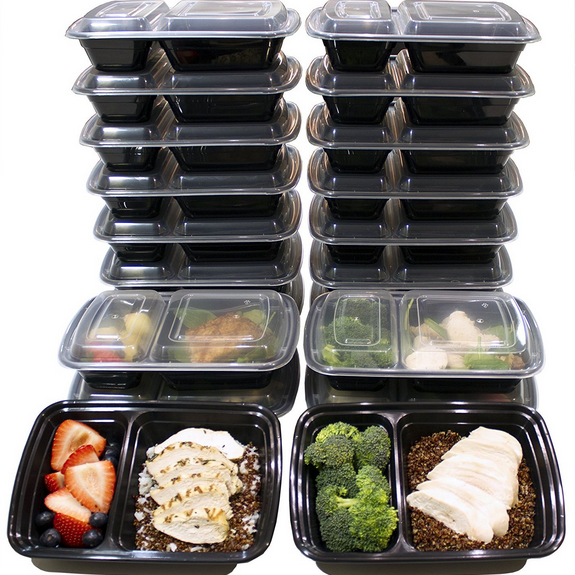 Misc Home 32 Oz. 2-Compartment Meal Prep Containers