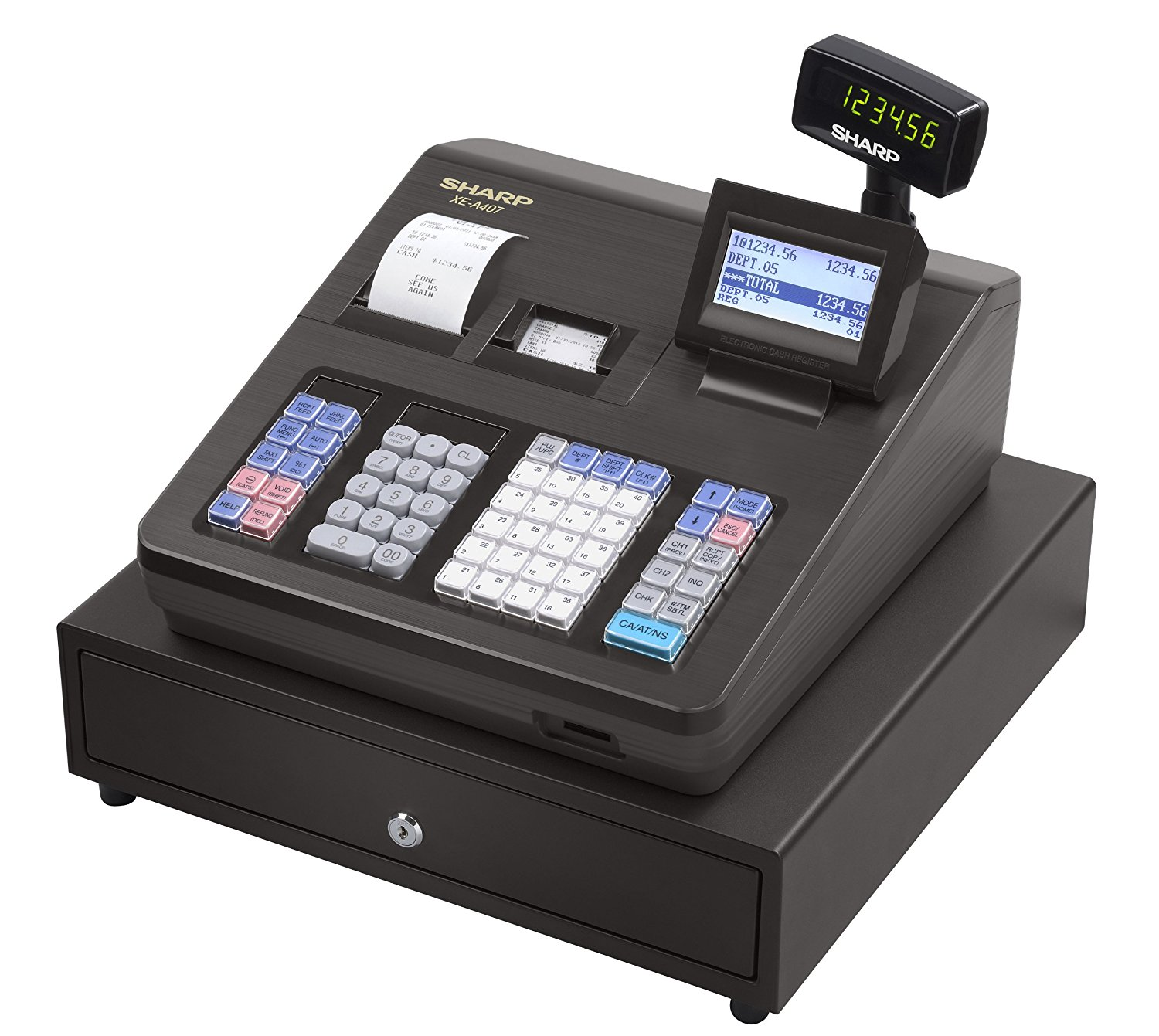 Sharp Advanced Reporting Cash Register with 32GB SD Card, 40 Clerk ID's & 7000 PLU's