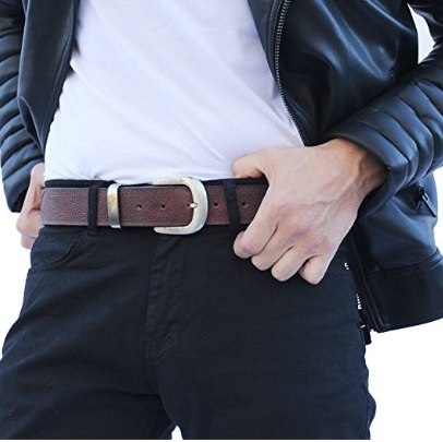 Atitlan Brown Leather Money Belt