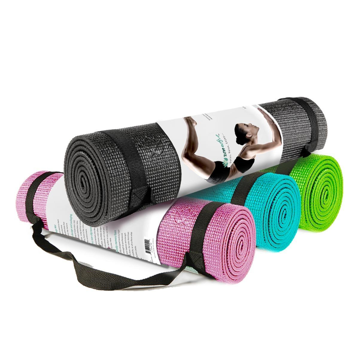 ZenActive Tranquility Yoga Mat with Carrying Strap