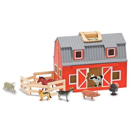 Melissa & Doug Fold & Go Wooden Toy Barn