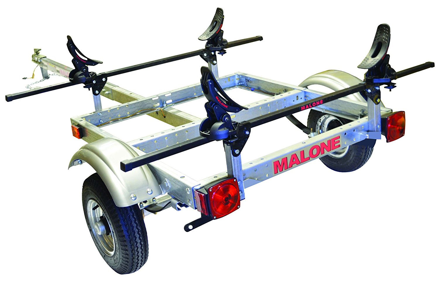 Malone XtraLight Trailer Package With One Saddle Up Kayak Rack