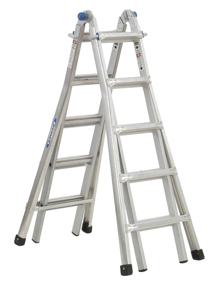 Werner Type 1A Telescoping Multi-Ladder – Professional Grade Adjustable Ladder, Supports up to 300 Pounds, Four Length Options