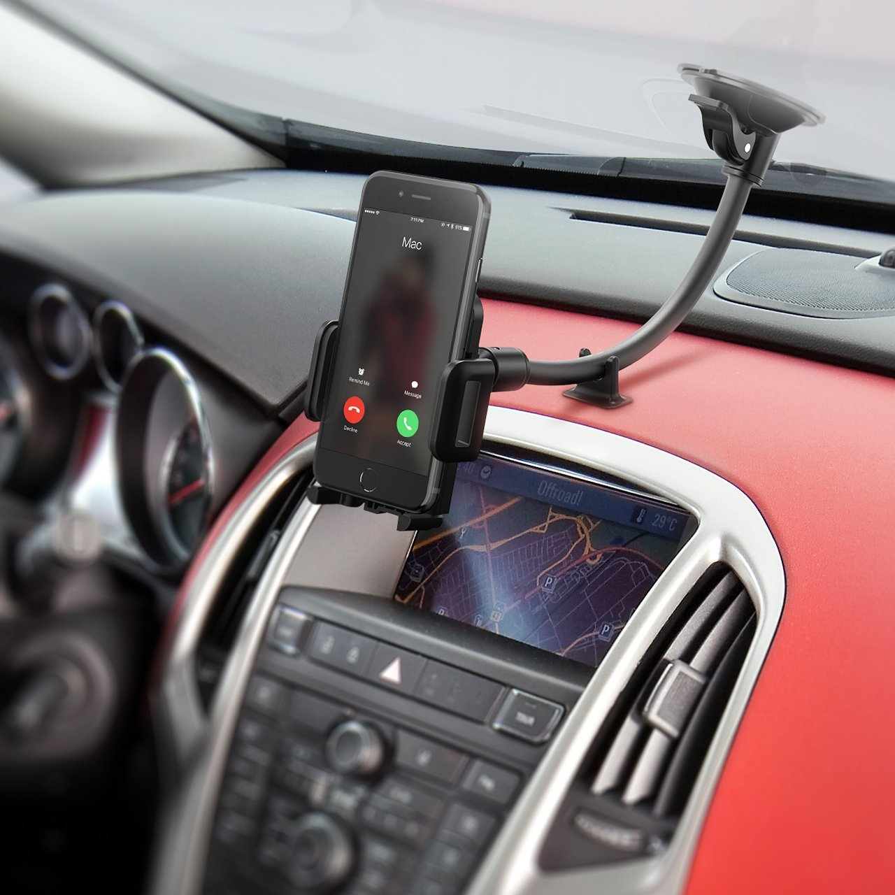 Mpow Long Arm Cell Phone Car Mount