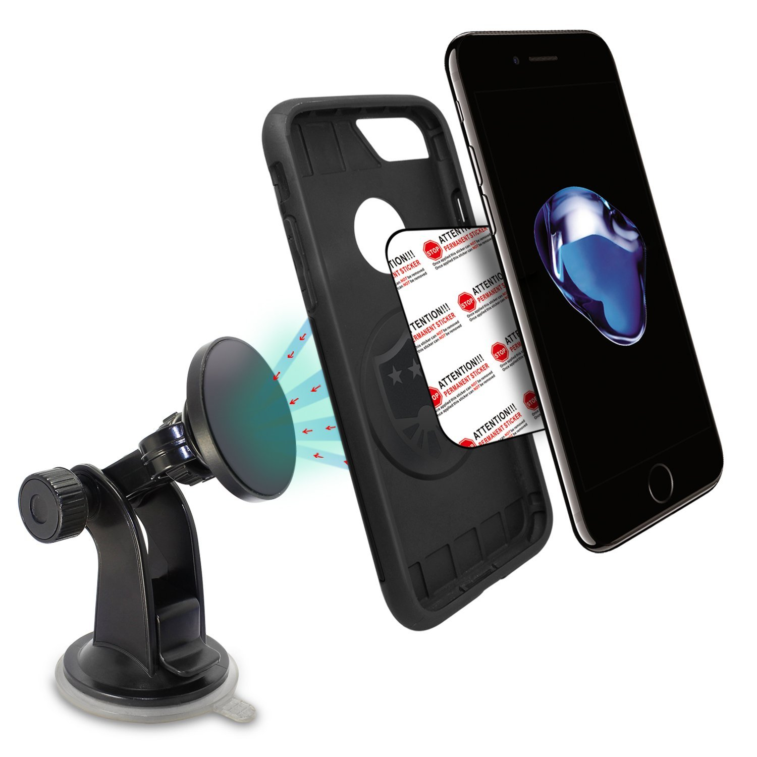 TechMatte MagGrip Windshield/Dashboard Magnetic Universal Car Mount