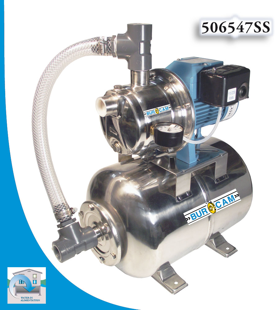 Bur-Cam Stainless Steel Jet Pump and Tank