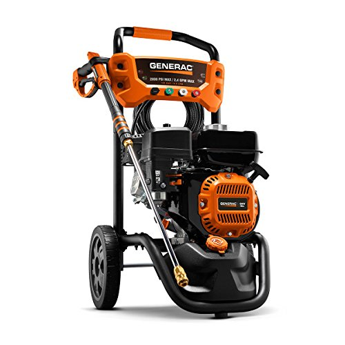 Generac Portable Pressure Washer – Gas Powered, 2800 PS1, 2.4 GPM, Ergonomic Handle, On-board Detergent Tank