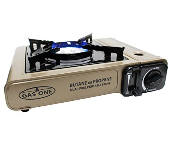 GasOne Dual Fuel Portable Propane & Butane Stove with Carrying Case – Also Available with Wind Shield