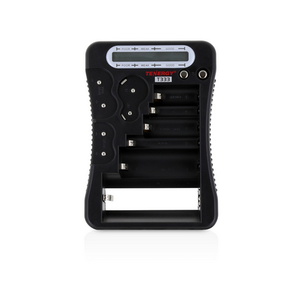 Tenergy T-333 Universal Battery Checker - LCD Display Multi-Purpose Tester for 12 Different Battery Sizes