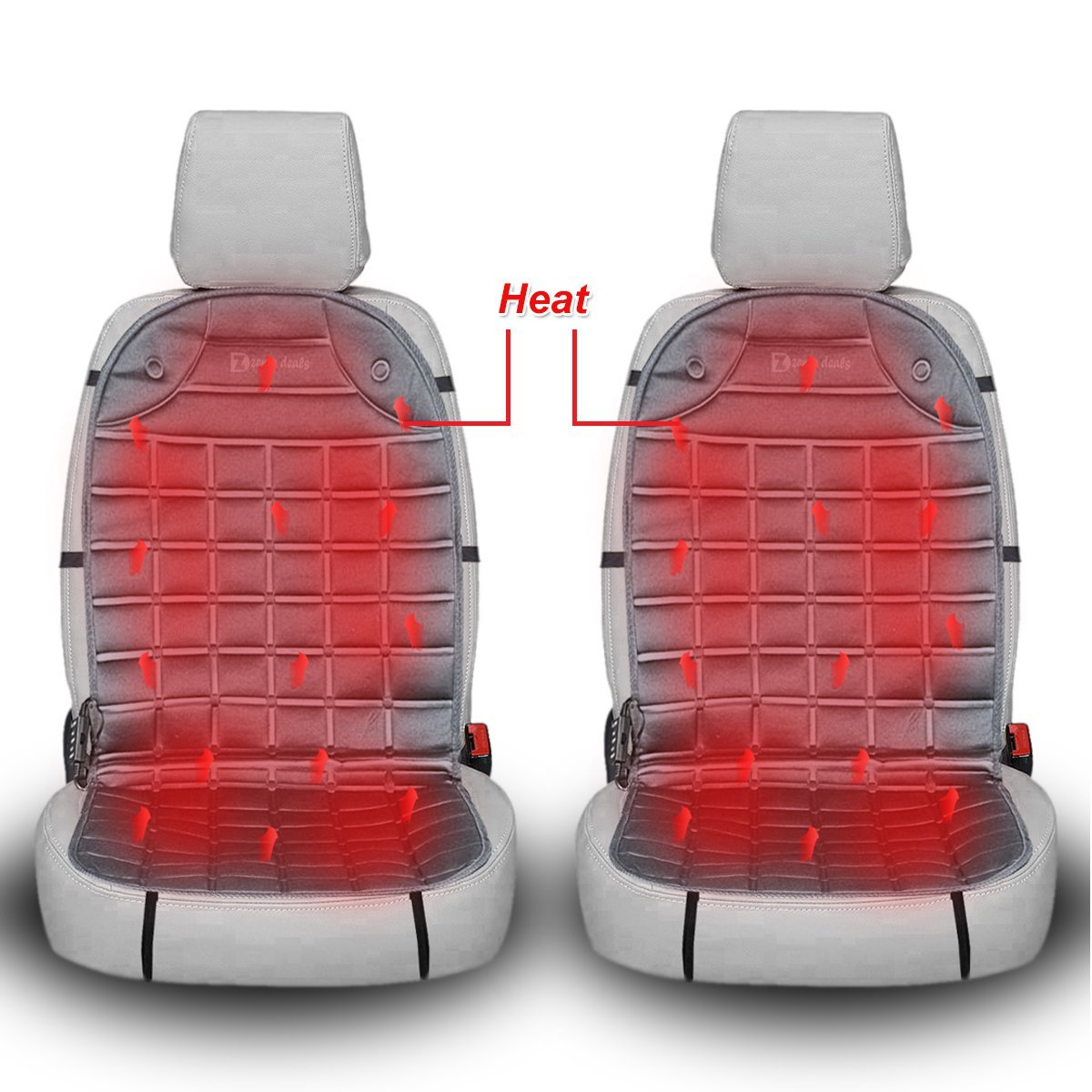 Zento Deals 12V Heated Car Seat Cover