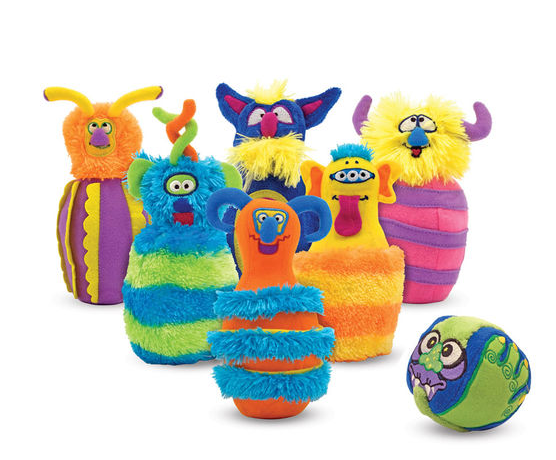 Melissa & Doug Monster Bowling Pin Set