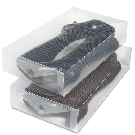 Whitmor Clear Vue Shoe Storage Boxes