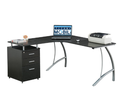 Techni Mobili Modern L-Shaped Computer Desk