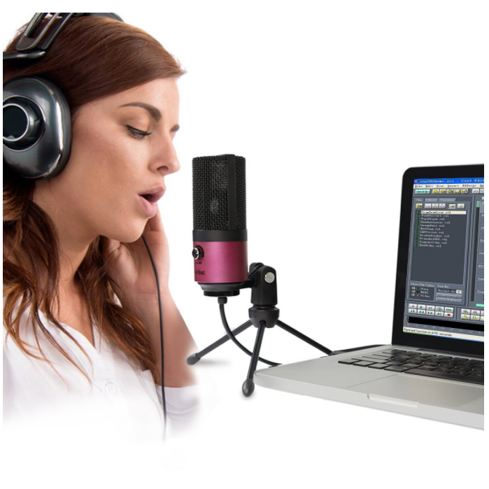 Fifine USB Podcast Condenser Microphone