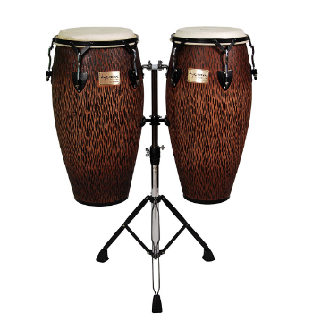 Tycoon Percussion Supremo Series Natural Oak Wood Dual Congas