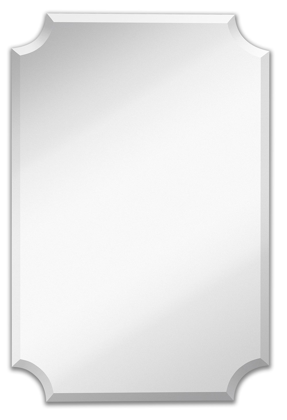 Hamilton Hills Scalloped Edge Bathroom Mirror