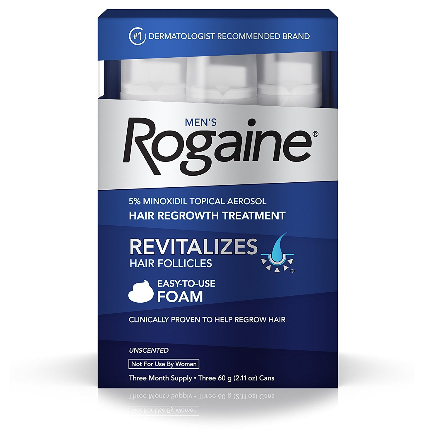 Rogaine Hair Loss & Hair Thinning Treatment - Minoxidil Foam – Available in 6 Pack Sizes