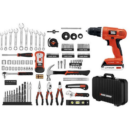 Black+Decker Lithium-Ion Drill and Project Kit
