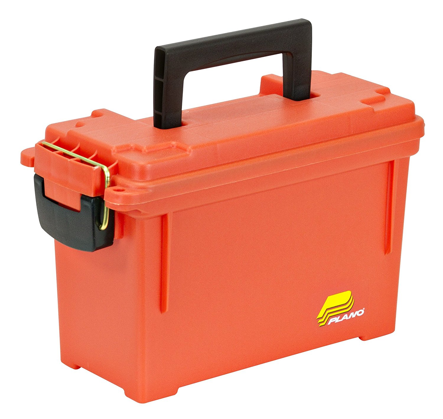 Plano Brass-Bailed Latch, Orange Dry Storage Emergency Marine Box
