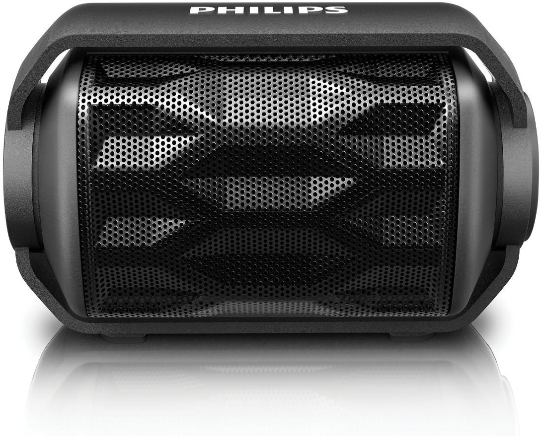 Philips Shoqbox Mini Compact Wireless Waterproof Outdoor Bluetooth Speaker with Built-in Mic — Available in Black or White