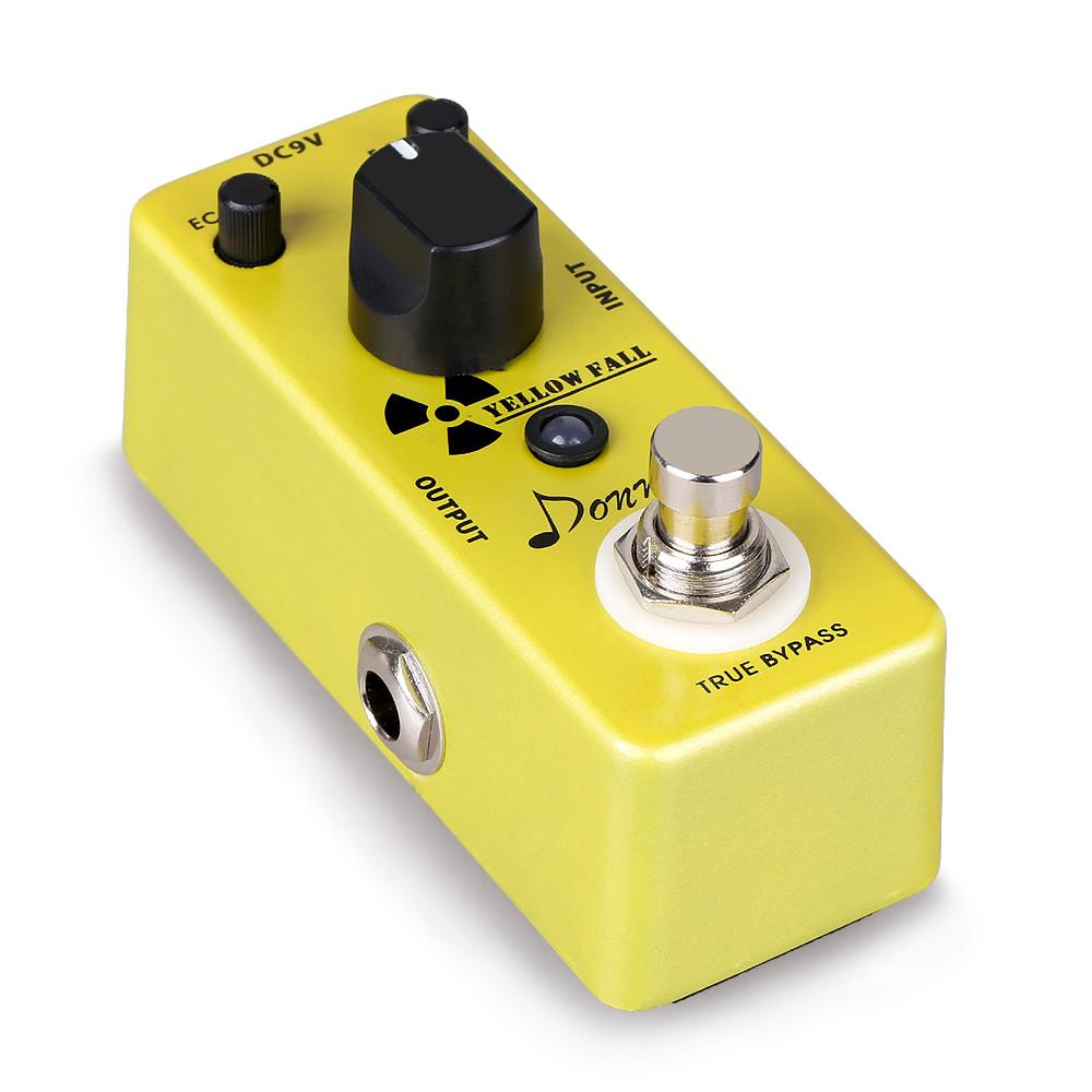 Donner Yellow Fall Delay Guitar Effect Pedal True Bypass