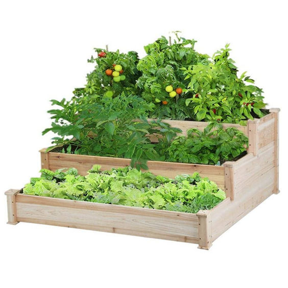 Yaheetech 3 Tier Wooden Raised Garden Bed