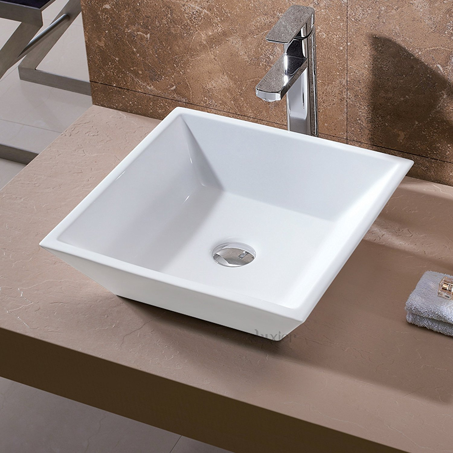 Luxier Bathroom Ceramic Vessel Sink