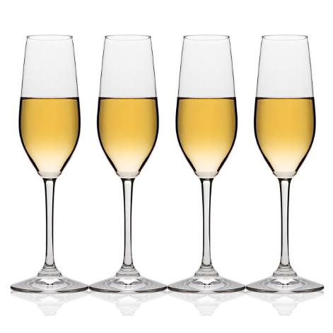 MICHLEY Unbreakable Champagne Glass Flute Set
