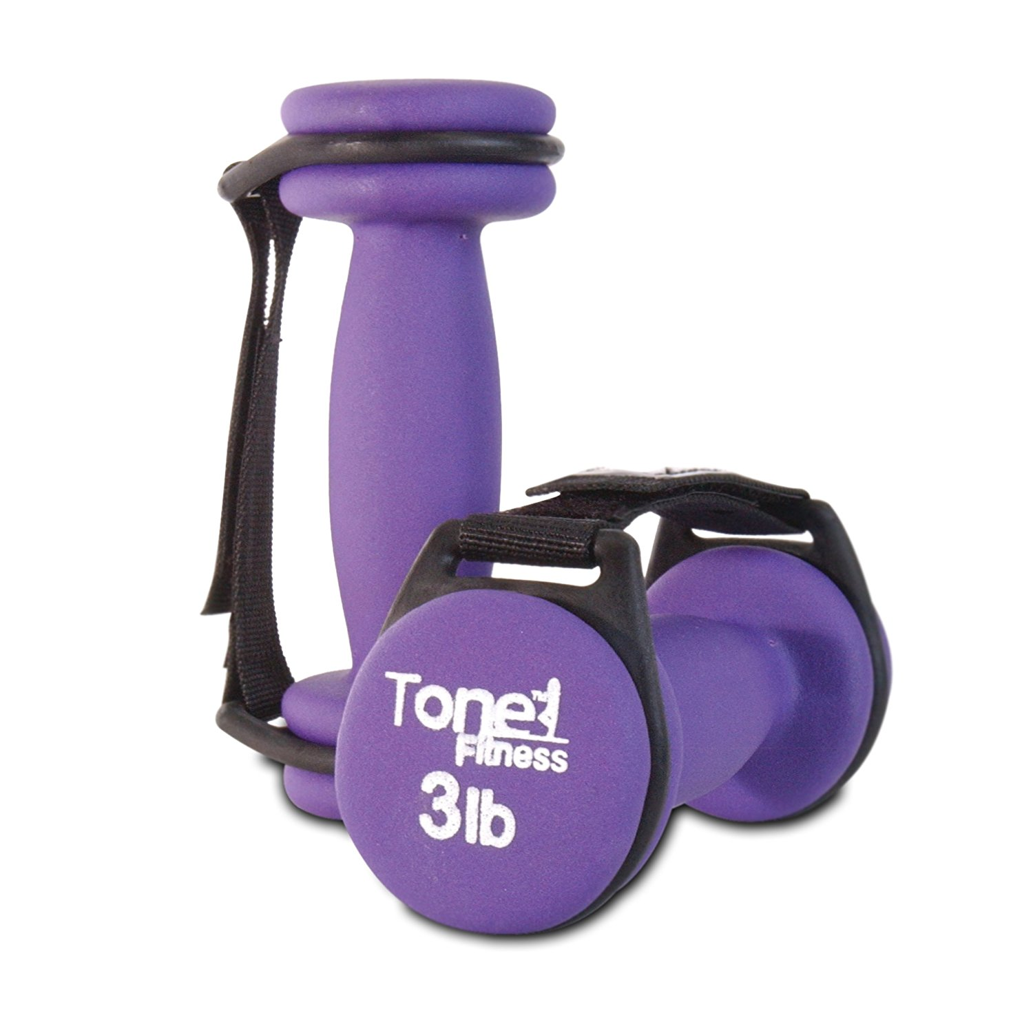 Tone Fitness Walking Dumbbells with Handles– Available in 3 Colors, Several Weight Options