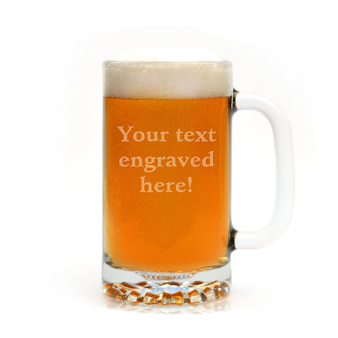 Glass With a Twist Personalized Beer Mug