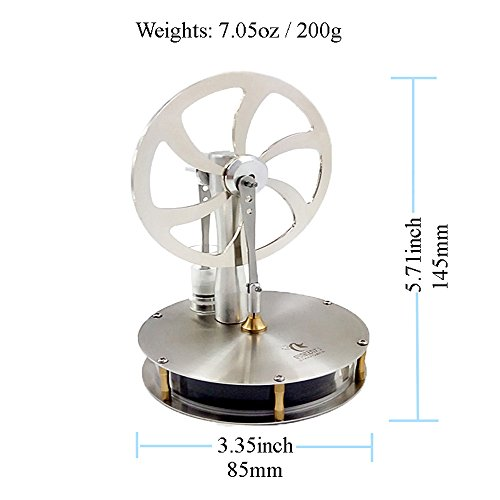 Dstar Low Temp Stirling Engine