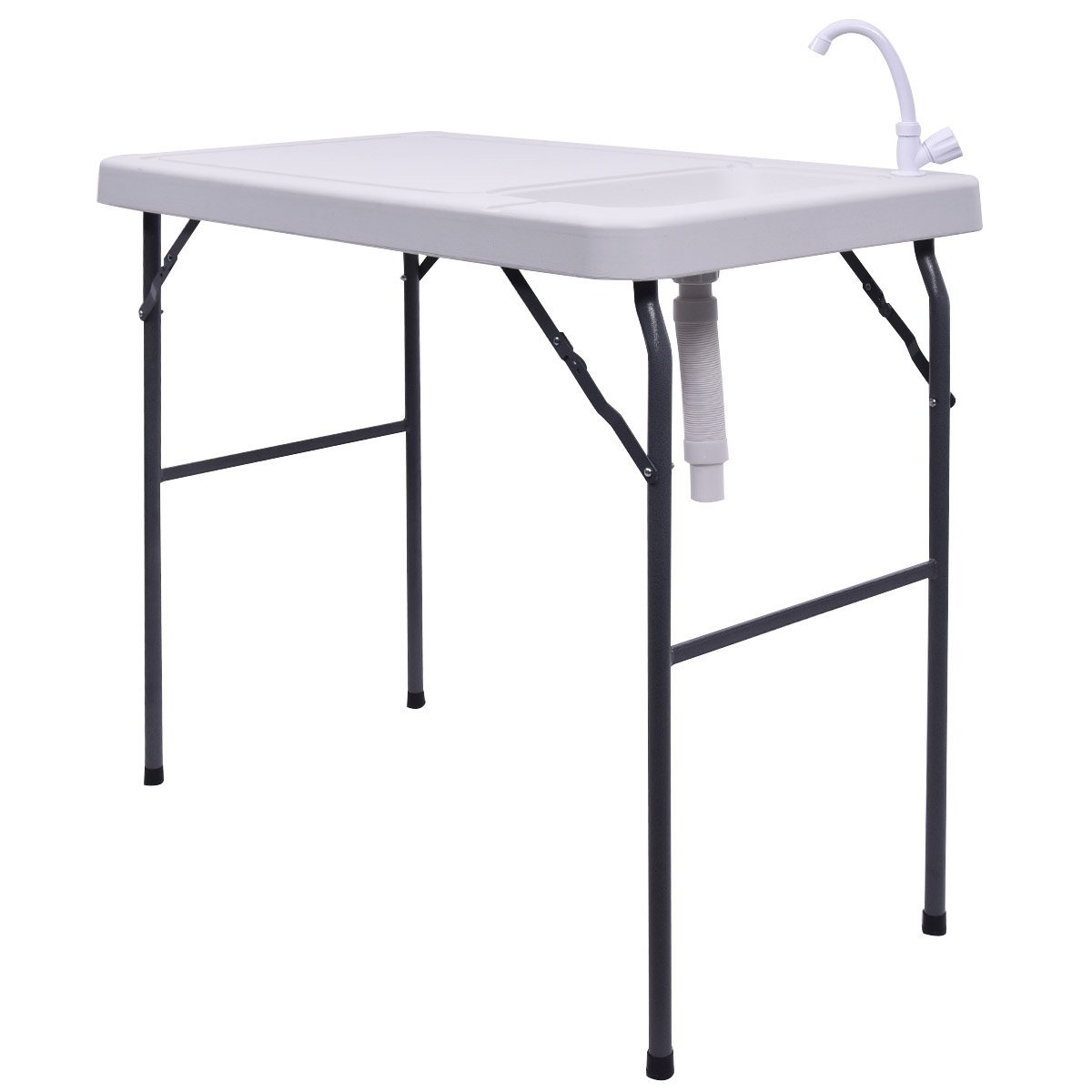Goplus Folding Table With Sink