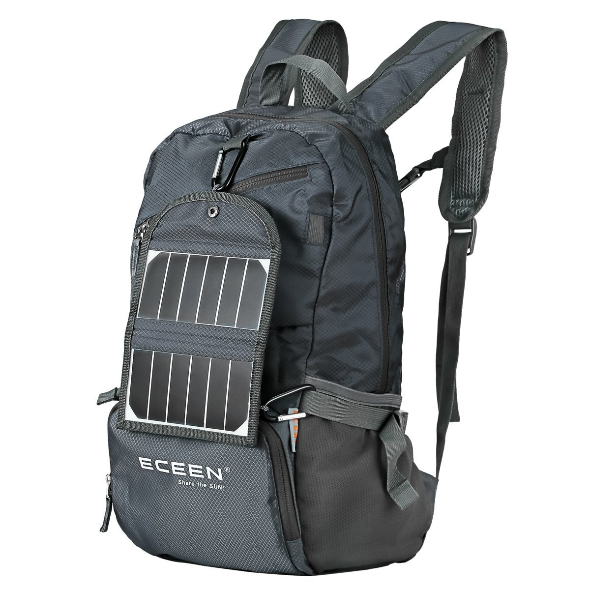 ECEEN Hiking Daypack with Solar Charger