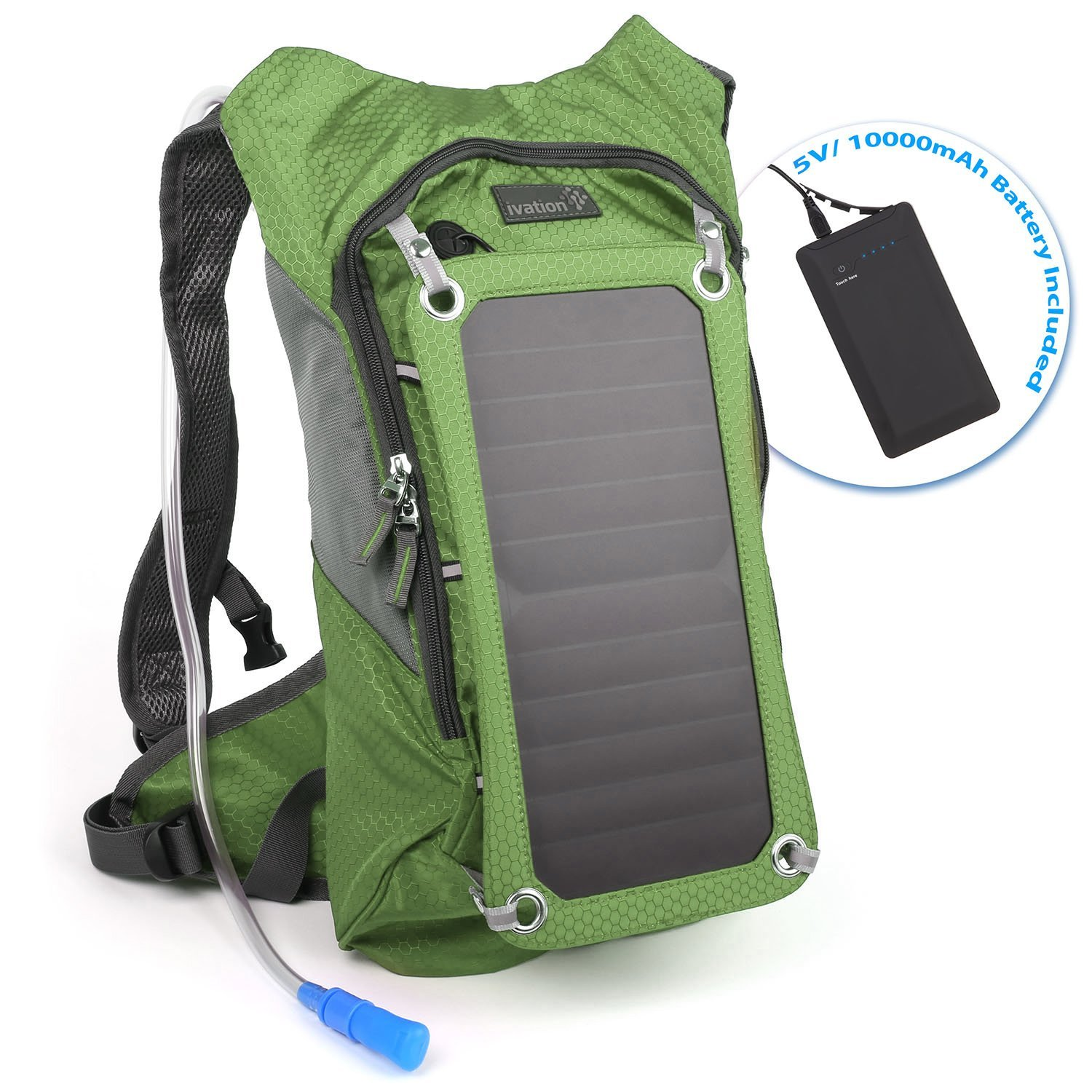 Ivation 7W Solar Hydration Backpack