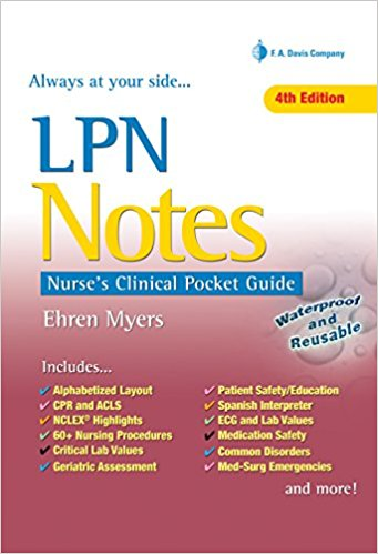 Ehren Myers Nurse's Clinical Pocket Guide