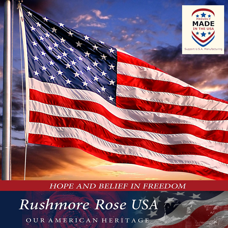 Rushmore Rose USA Premium American Flag