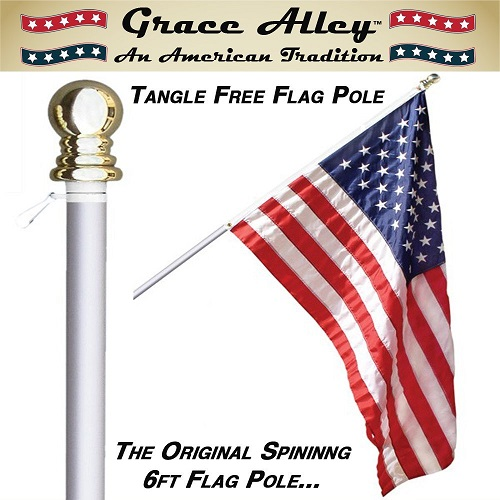 Grace Alley Tangle Free Flag Pole