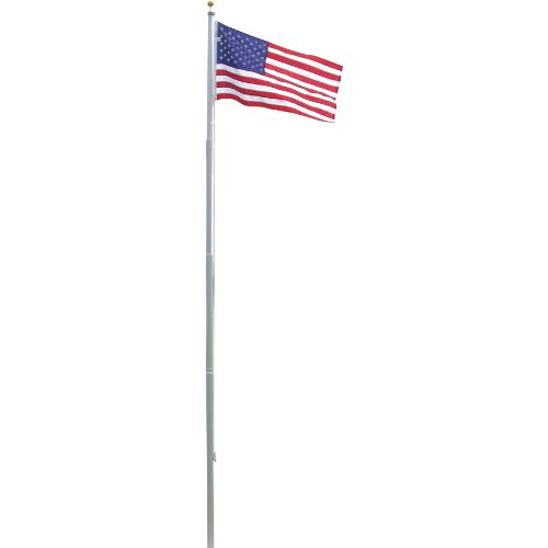US Flag Store Heavy Duty 20-Feet Residential Flag Pole with Valley Forge Nylon Flag