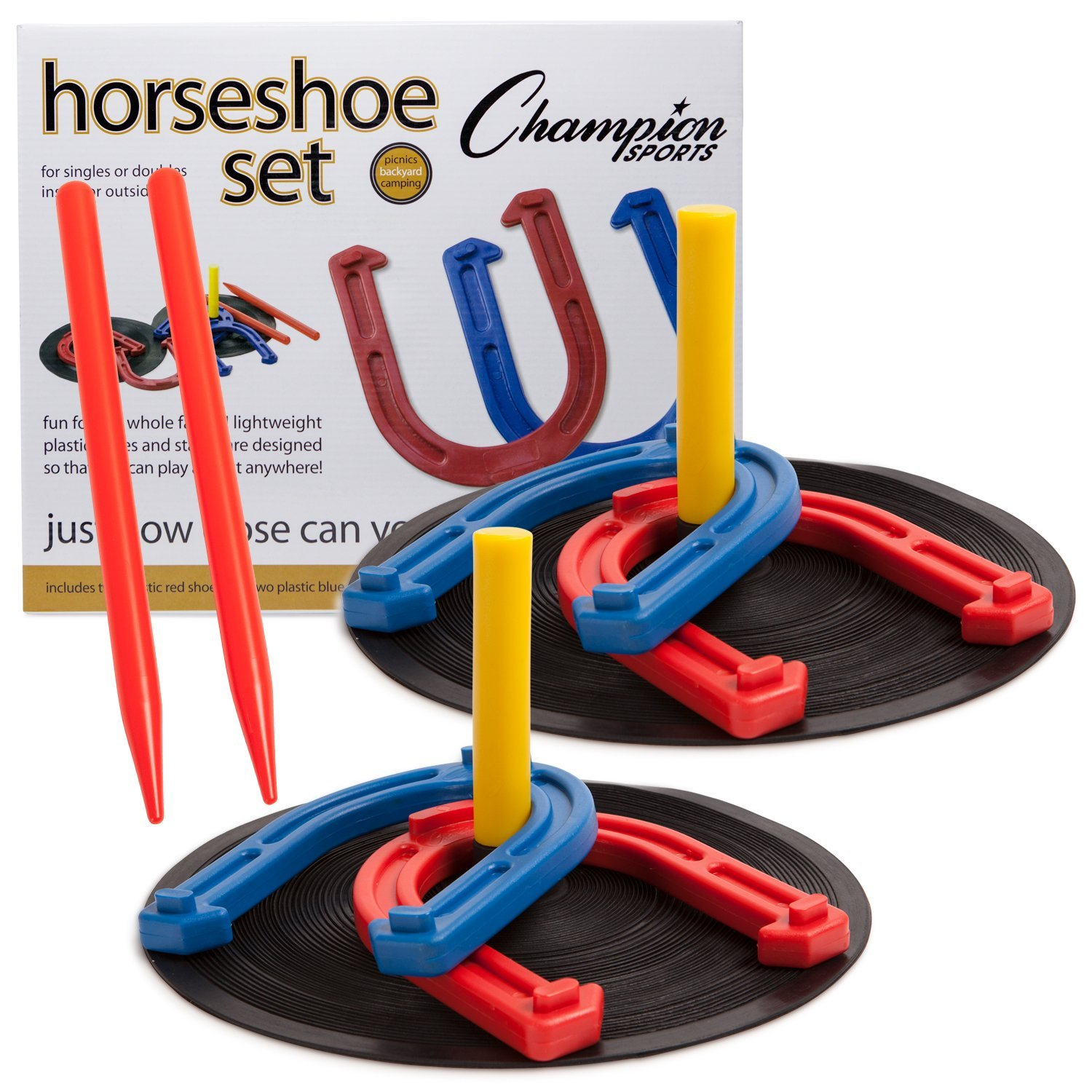 Champion Sports Rubber Horseshoe Set