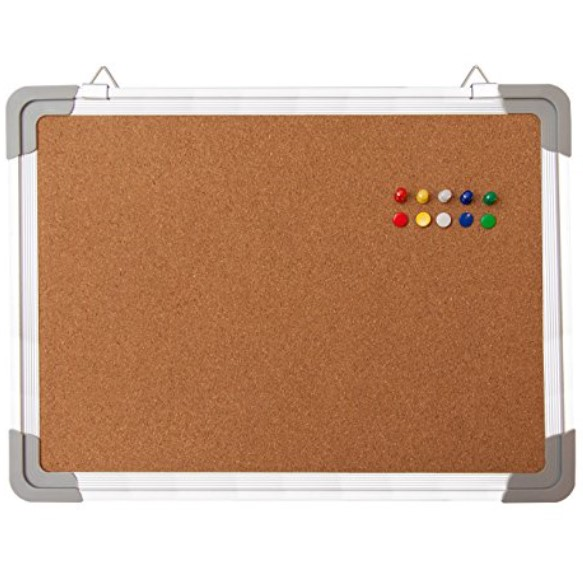 Navy Penguin Fabric Mini Bullet Board with Aluminum Frame - Available in 2 Sizes & 3 Colors