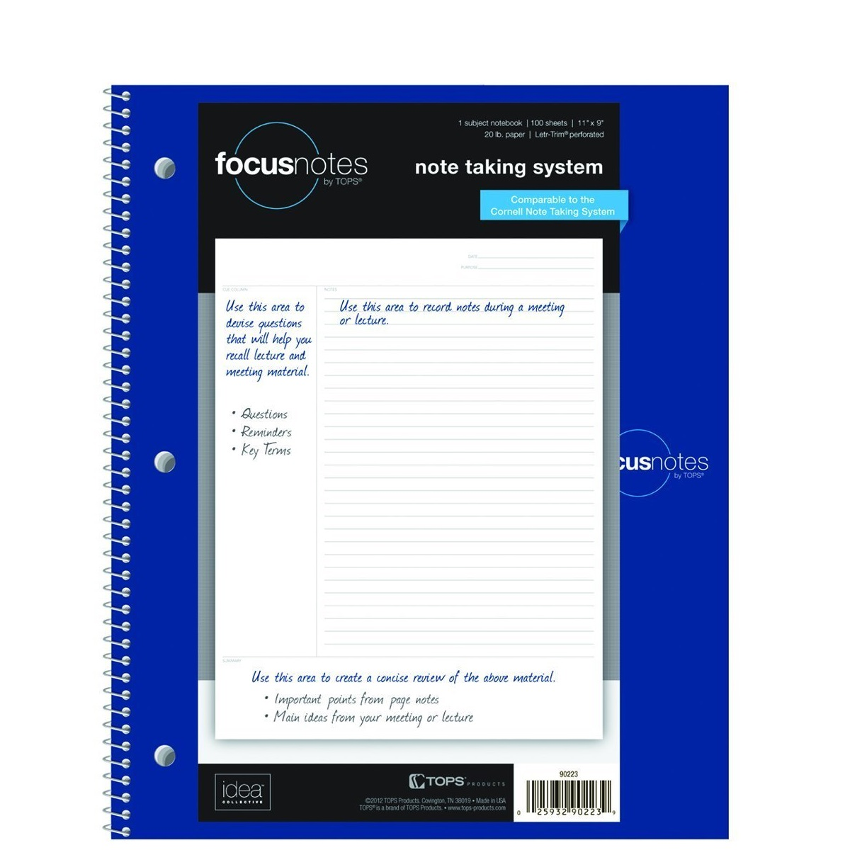 TOPS FocusNotes 1-Subject Notebook
