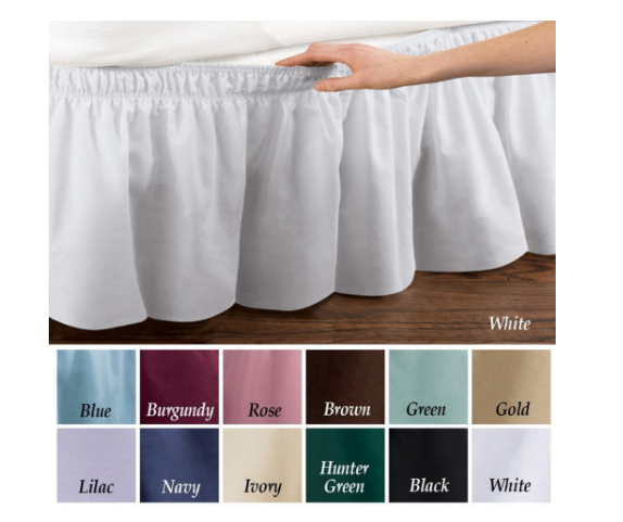Collections Etc Elastic Bed Wrap Ruffle Bed Skirt