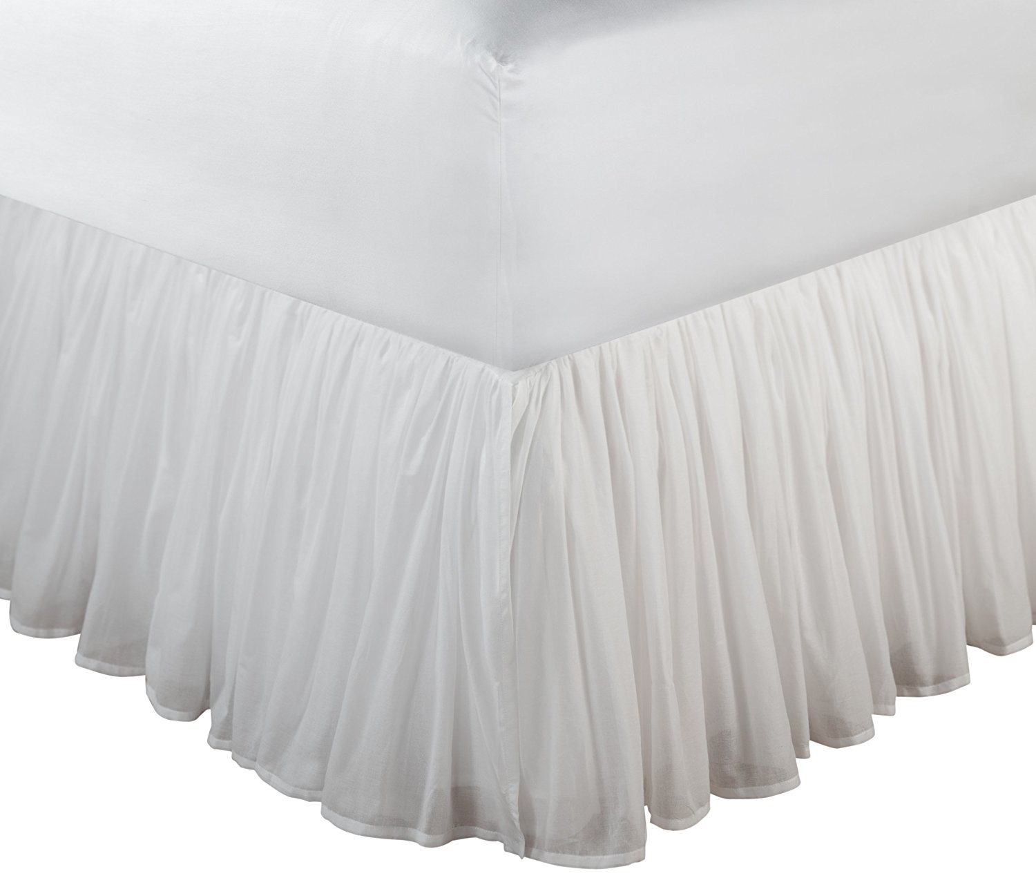 Greenland Home Fashions Cotton Voile White Bed Skirt