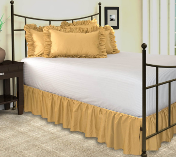Shop Bedding Solid Ruffled Bed Skirt