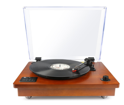 1byone Belt Driven Bluetooth Record Player