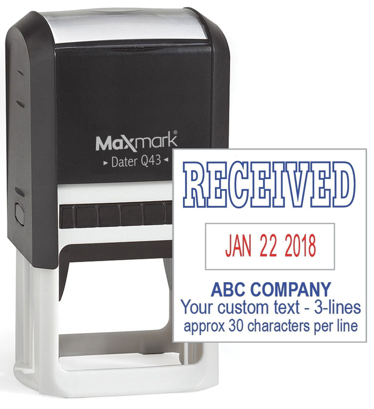 MaxMark Large Self-Inking Date Stamp