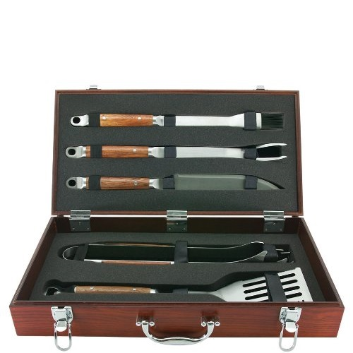 Mr. Bar-B-Q Forged BBQ Tool Set with Case