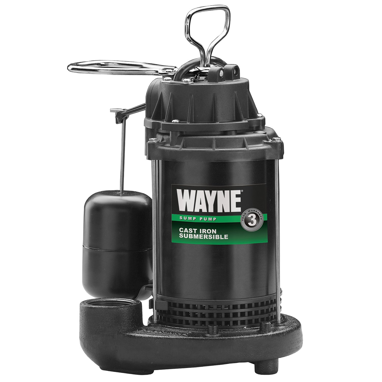Wayne Submersible Cast Iron Stainless Steel Sump Pump – Available in ¾ HP or 1 HP