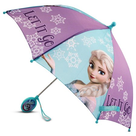 Disney Little Girls Frozen Elsa Umbrella with Character Handle for Age 3-7
